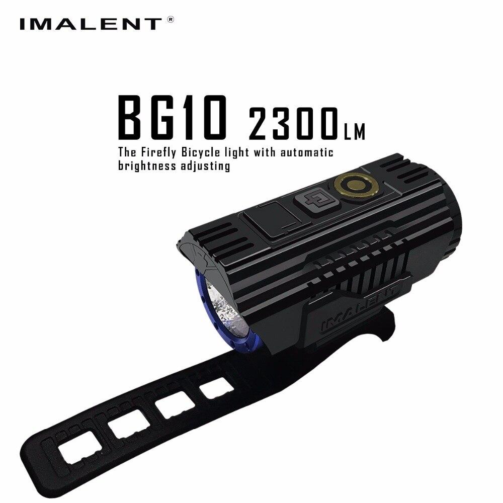 все цены на IMALENT BG10 LED Flashlight USB Charging Bike Light CREE XHP50 2300LM LEDS OLED Screen Waterproof Bicycle Light + 26350 Battery в интернете