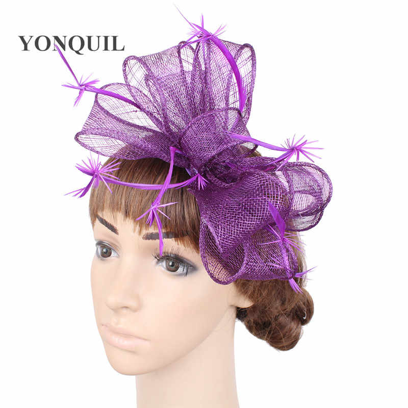 73ccb327c20ac Detail Feedback Questions about Women purple cocktail hair hat ...