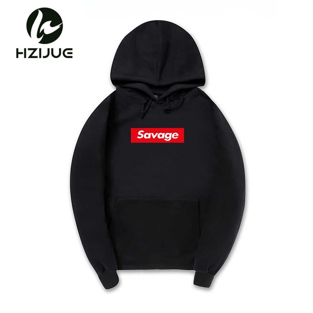 2a52df54ae4 2018 New 21 Savage Hoodies Man Parody No Heart X Savage Letter Print Hoodie  Sweatshirt Hip