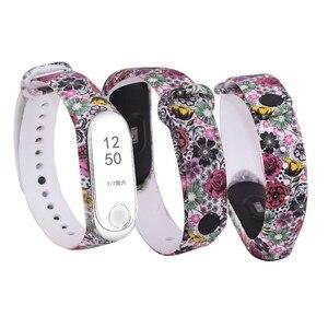 Image 5 - Substituição de silicone alça de pulso para 3 4 inteligente pulseiras Cinta Para Xiao mi mi mi mi Banda 3 pulseira Pulseira para mi banda 4