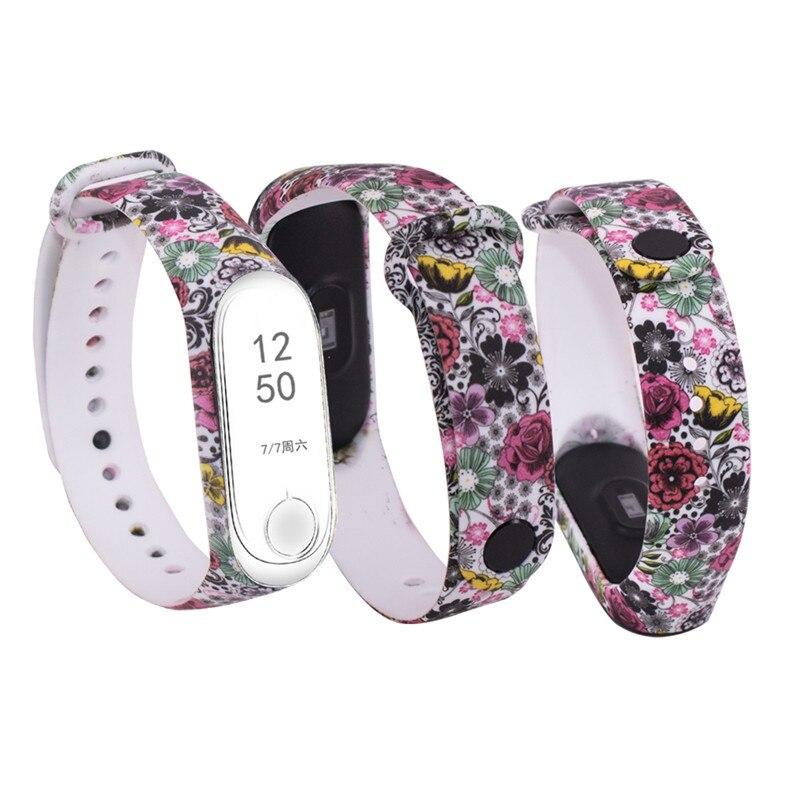Image 5 - W celu uzyskania silikonowy pasek na nadgarstek dla mi 3 mi 4 inteligentne bransoletki pasek dla Xiao mi mi Band 3 pasek do zegarka na rękę dla mi zespół 4Inteligentne akcesoria   -