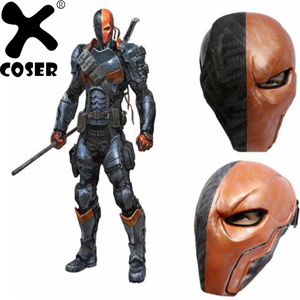 XCOSER Brand Sale Movie Deathstroke Mask Batman Arkham Cosplay Helmet Origins PVC Helmet Cosplay Props Halloween Party Wear