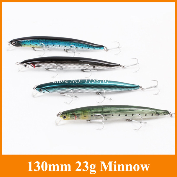 Free Shipping 1pcs/lot 130mm 23g Biomimetic Fishing Lures Crankbait Crank Bait Bass Tackle Treble Hook wldslure 1pc 54g minnow sea fishing crankbait bass hard bait tuna lures wobbler trolling lure treble hook