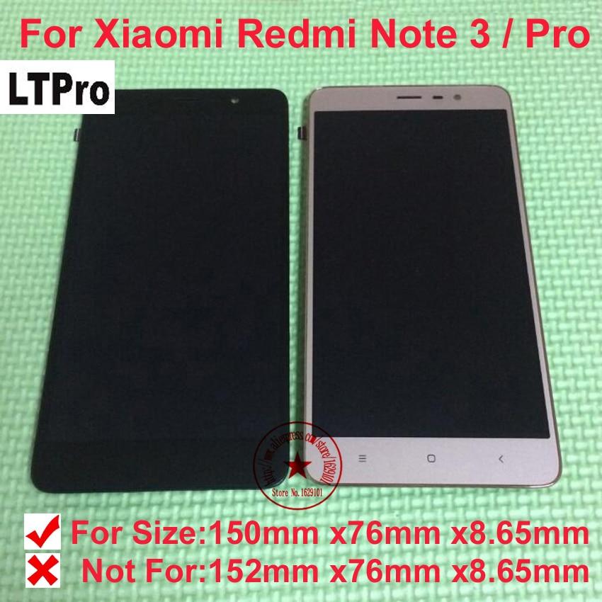 LTPro TOP Quality Display LCD Touch Screen Digitizer Assembly con frame Per Xiaomi Redmi Note 3 Pro Mobile parti di Ricambio