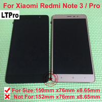 TOP NEW Hongmi Note3 LCD Display Touch Screen Digitizer Assembly With Frame For Xiaomi Redmi Note