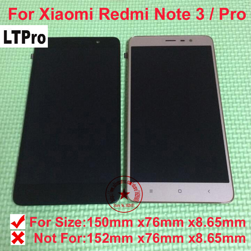 LTPro TOP Quality LCD Display Touch Screen Digitizer Assembly with frame For Xiaomi Redmi Note 3 Pro Mobile Replacement partsLTPro TOP Quality LCD Display Touch Screen Digitizer Assembly with frame For Xiaomi Redmi Note 3 Pro Mobile Replacement parts
