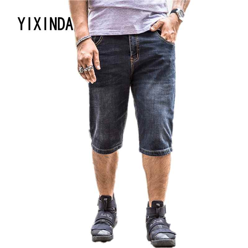 YIXINDA Brand The new mens summer baggy jeans and baggy shorts add to their size