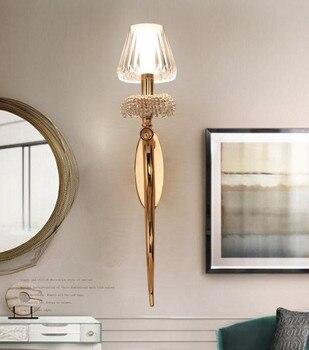 Lámpara de pared de pasillo moderna de poste de Abajur lámpara de pared de sala de estar