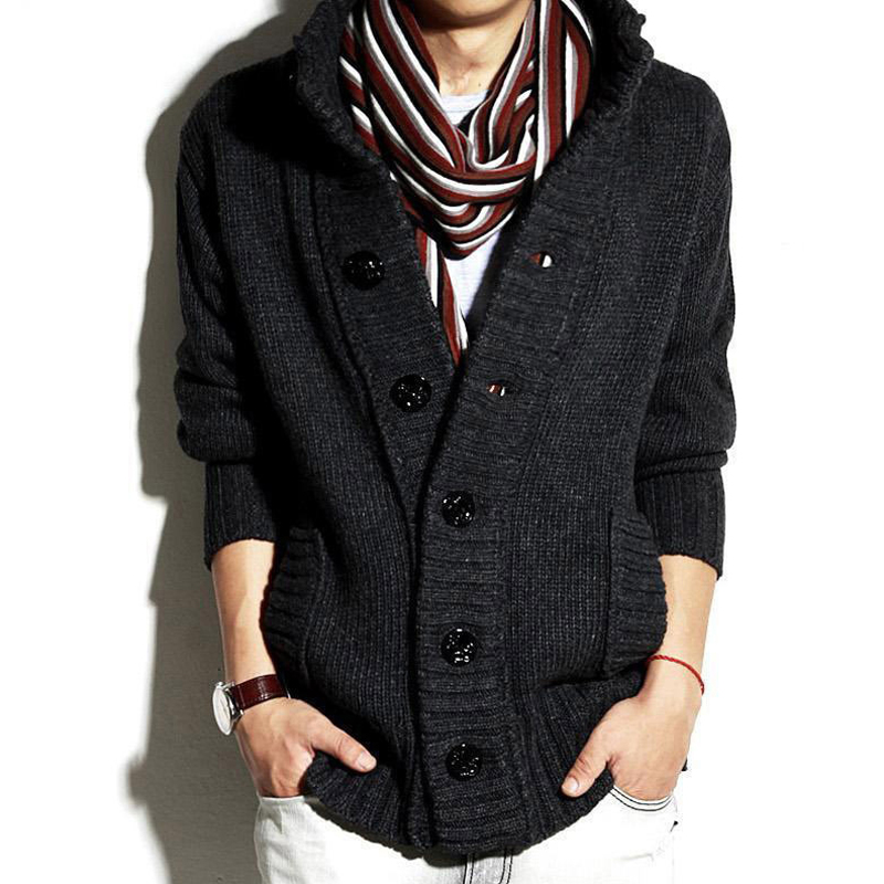 Mens Sweater European Designer Knitted Mens Cardigan Sweaters Pullover Wool Mens Single Breasted Sweater Winter Streetwear B126