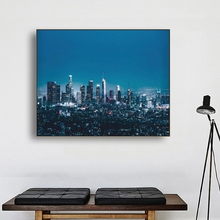 Laeacco Canvas Calligraphy Painting Wall Art Modern City Night Builidings Posters and Prints Home Decoration Pictures