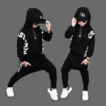 85d1e3b93 Los niños otoño primavera niños hip hop traje de manga completa sudaderas +  Pantalones de Haren pantalones 2 piezas conjuntos para 2- 12 años  forzosamente ...