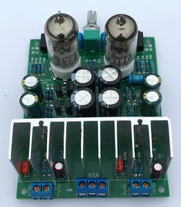 Image 4 - Diy kits HIFI 6J1 tube amplifier Headphones amplifiers LM1875T power amplifier Board 30W preamp bile buffer