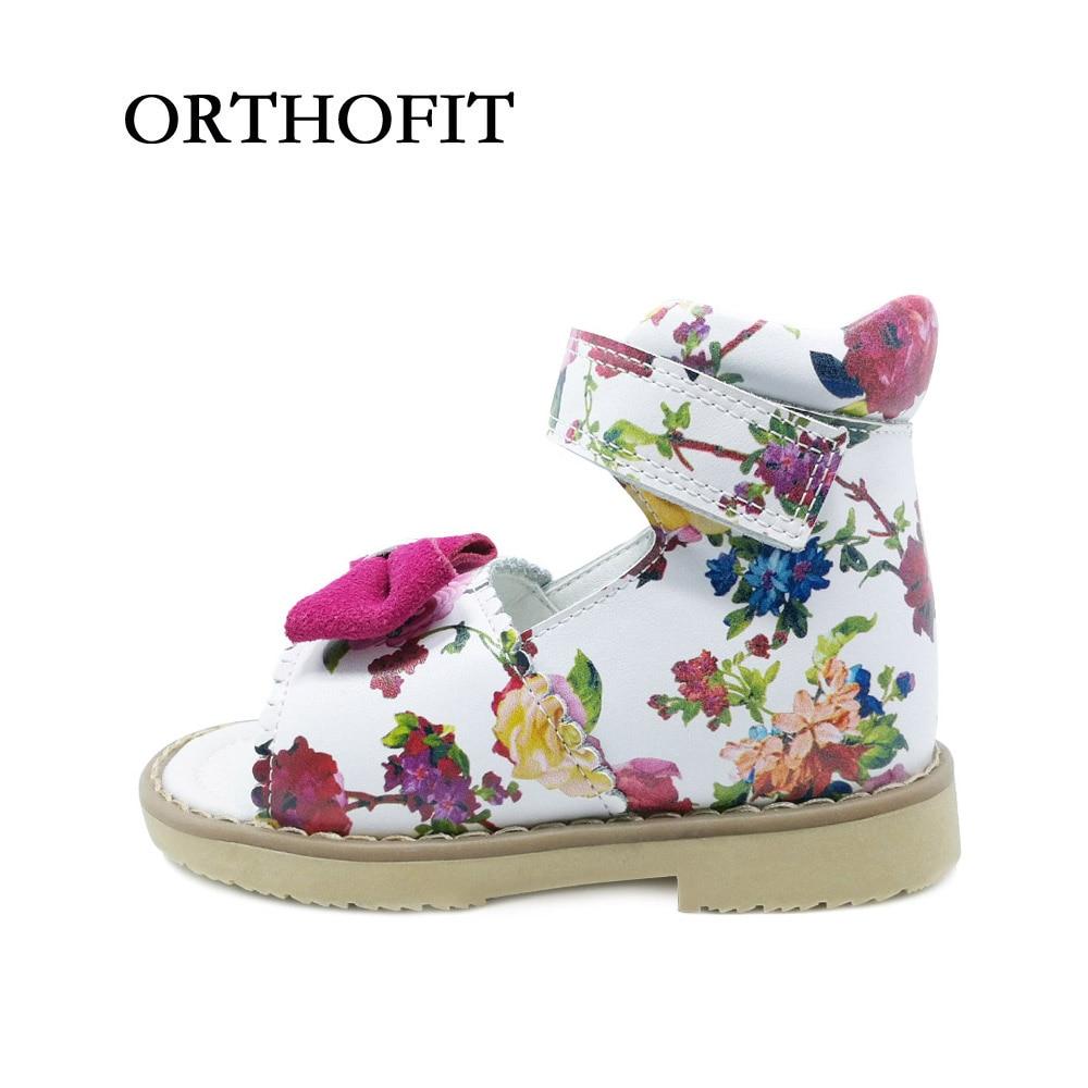 Beautiful Print Bowknot Design Children's Shoes Orthopedic ... Orthopedic Shoes For Kids That Tiptoe