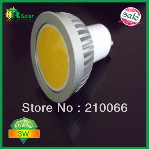 LED SPOT LIGHT 3W LED cup lamp, 3W-GU10 COB spot light, 120 degree angle, 85-265V AC Free shipping (10 pieces/ lot)