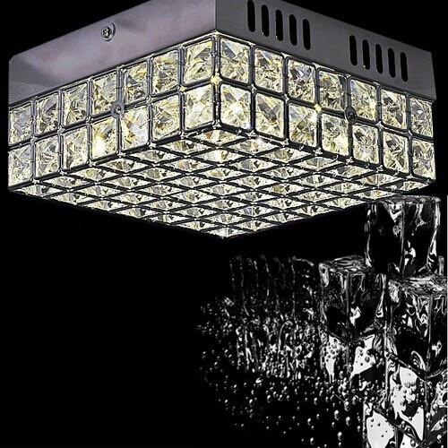 Square desgin modern led ceiling lights for living room lustres de crystal corridor light and hallway lamp