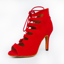 Nữ Phòng Khiêu Vũ Nhảy Latin Giày Đỏ Đen Salsa Tango Bachata Kizomba Xã Hội Giày Cao gót năm 6/7. năm 5/8.5/10cm Da Lộn Đế
