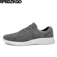 Breathable 2017 New Men Flats Shoes Casual Skate Sneakers Rubber Comfort Spring And Autumn Trainers Lace
