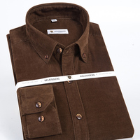 Men S Classic Long Sleeve Corduroy Button Down Workwear Top Shirts Casual Regular Fit Comfortable Soft