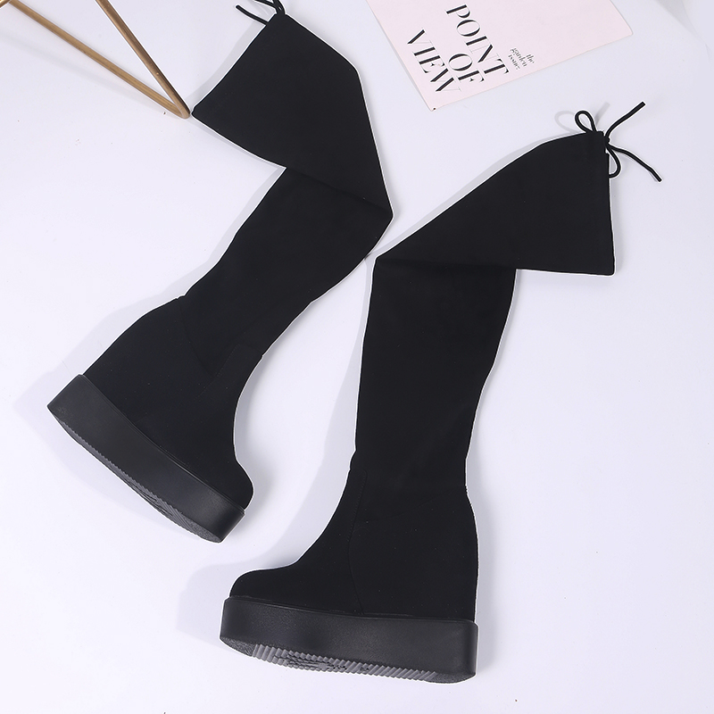 Moxxy Thigh High Boots Platform Female Winter Boots Women Over the Knee Boots Wedges High Heels Warm Fur Shoes Woman Long Boots high heels over the knee long boots women sexy boots heels snow long boot winter shoes zip thigh high boots platform shoes