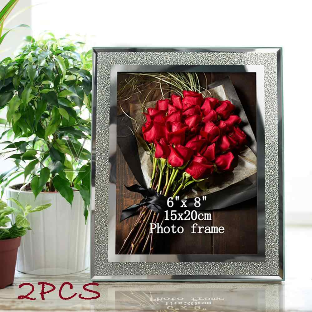 2 pcs giftgarden glass frames with silver side picture frame sets home decortable ornaments frame aliexpress