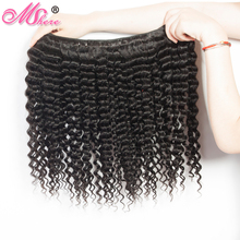 Mshere Peruvian Deep Curly Weave Human Hair Extensions