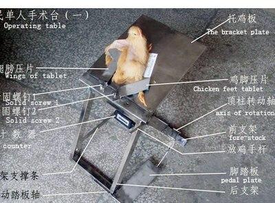 닭고기 용 Capon 단일 작업 테이블