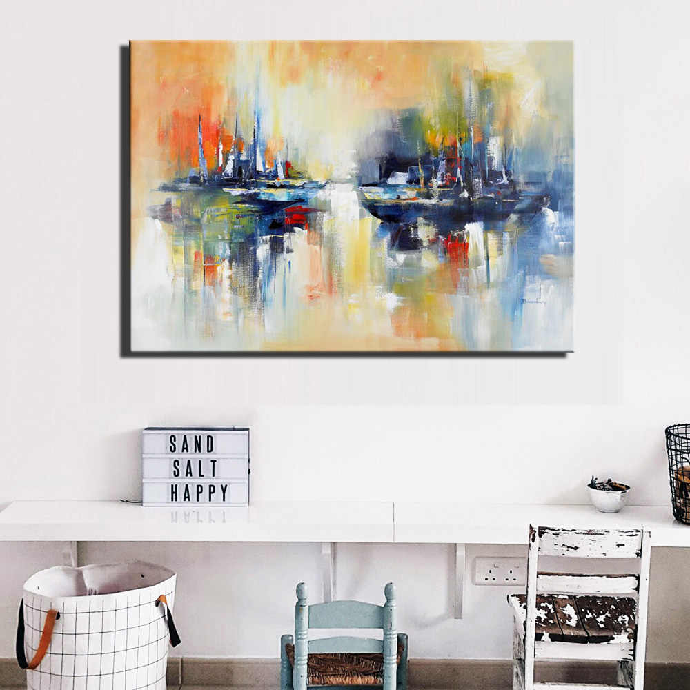 Красочные абстрактные настенные художественные плакаты и принты большого размера граффити художественные полотна картины Современный домашний декор картина для гостиной