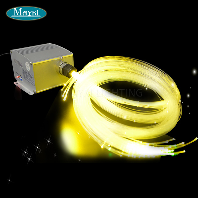 Superb Maykit 300 Strand 3 Stecker 3.6m Pmma End Glow Fibre Optic Lighting Fibers  With Mix