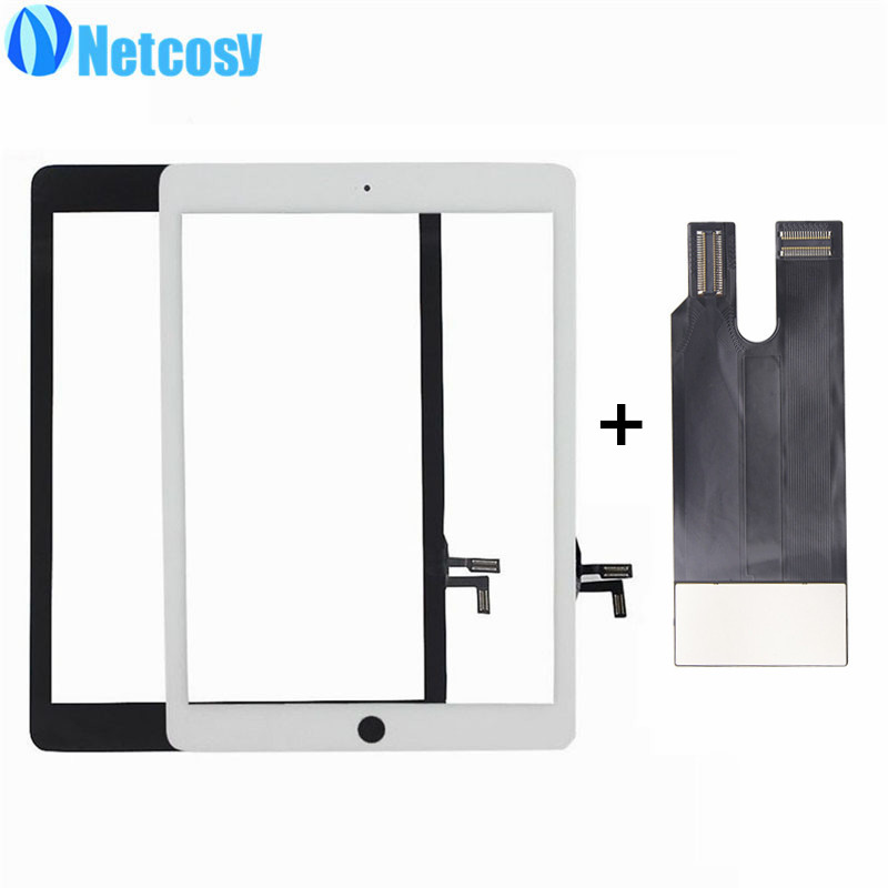 Netcosy Touchscreen For ipad Air 1 A1474 A1475 A1476 Black / White Touch screen digitizer panel for ipad 5 & TP test flex cable netcosy for ipad air touchscreen high quality black