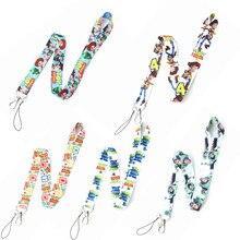LLavero de Toy Story 4, Buzz Lightyear, Woody, Forky, cordón de teléfono móvil, Anime, regalos de cumpleaños para niños