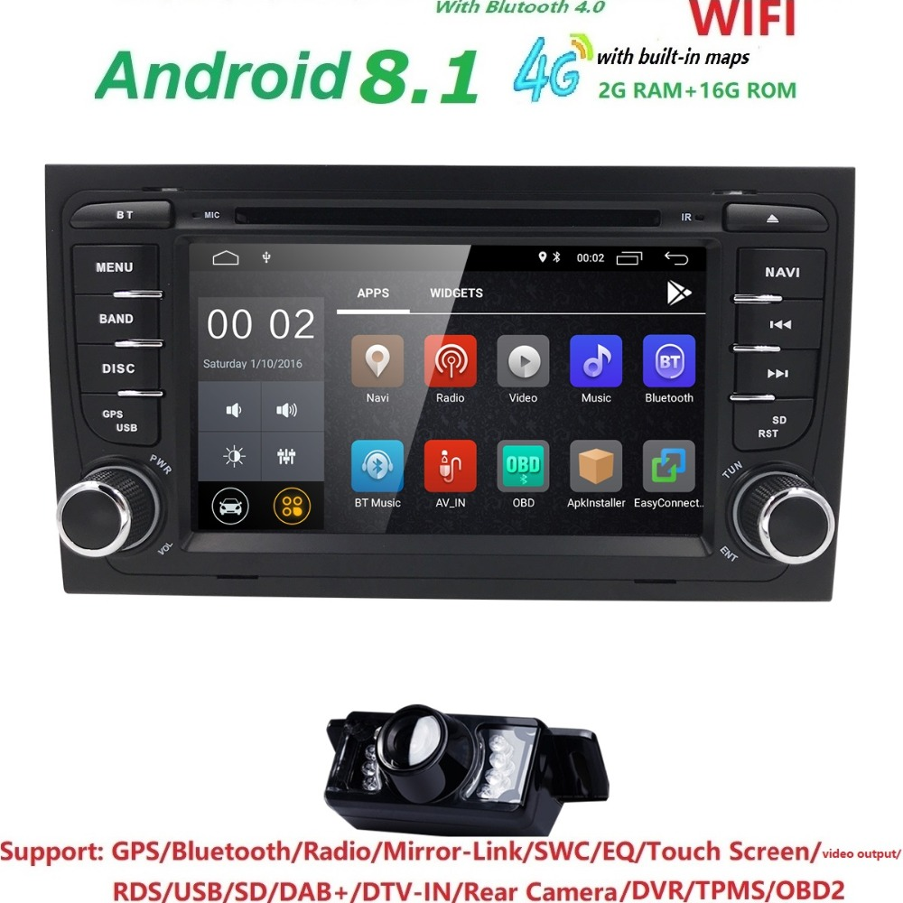1024 * 600 Car DVD Player per Audi A4 2002-2007 S4 RS4 8E 8F B9 B7 - Elettronica per Auto