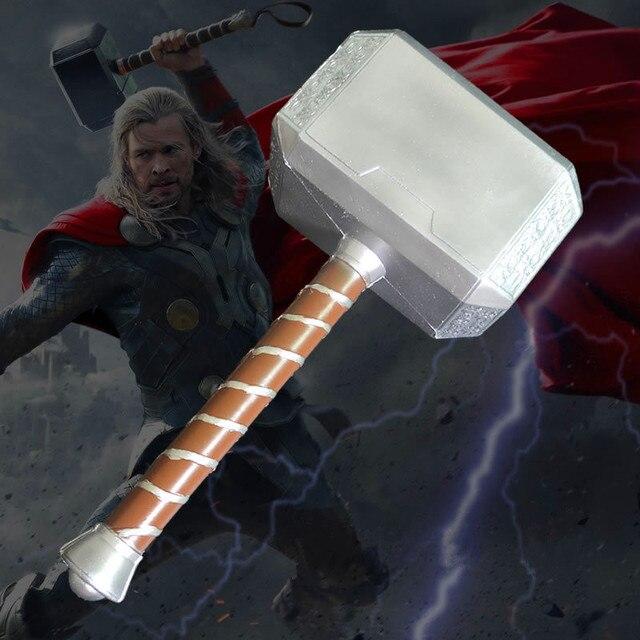 Vingadores: Age Of Ultron Superhero 1:1 Martelo de Thor Odinson Raytheon Martelo Mjolnir Cosplay Action Figure Collectible Modelo Toy