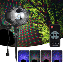ZINUO MINI RGBY Colorfull LED Snowfall Laser Projector Light IP65 Waterproof Outdoor Christmas For Landscape Garden