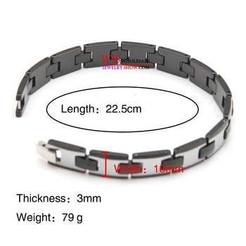 tungsten carbide bracelet Hot selling High Polished Unisex Men's Tungsten Steel bracelet Length: 22.5cm 1
