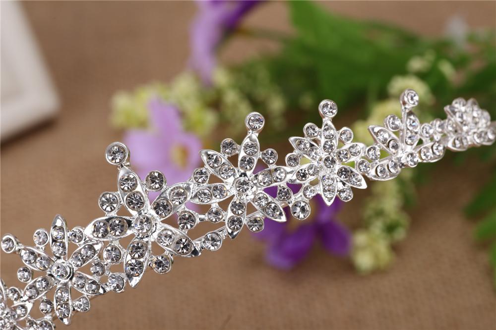 3 Designs Fashion Crystal Wedding Bridal Tiara Crown For Women Prom Diadem Hair Ornaments Wedding Bride hair Jewelry accessories 8