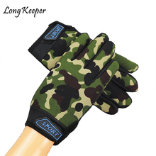 3-15 Years Old Kids Outdoor Gloves Fishing Gloves Sports Keep-Warm Gloves Thicken Camouflage Black Comfortable Children Gloves