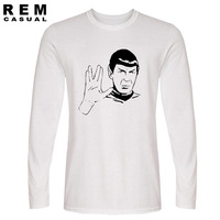 HOT LIVE LONG AND PROSPER SPOCK STAR TREK T Shirts Long Sleeve Casual Man Tees Fashion
