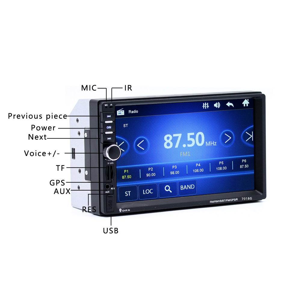 Hot Sale 7018g 2 Din 7 Inch Hd Touch Screen Car Radio Multimedia Mp5 Lcd Touchscreen Oppo R7s Complite Original Player Gps Navigation With Camera And Southeast Asia Maps Bluetoot