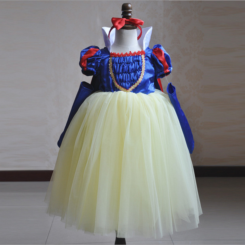 Children Cosplay Snow White Princess Dress Girl Party Halloween Dress Costume Kids Tutu Dress Tulle Flower Girl Dresses Vestidos hot sale halloween cosplay costume for women snow white princess black wigs free shipping