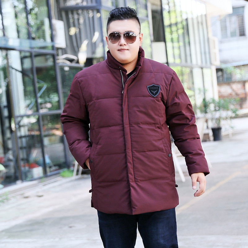 Nueva llegada de alta calidad chaqueta de invierno gruesa con cuello alto obese casual abrigo talla grande XL 7XL8XL9XL10XL11XL 12XL 13XL-in Plumíferos from Ropa de hombre    1