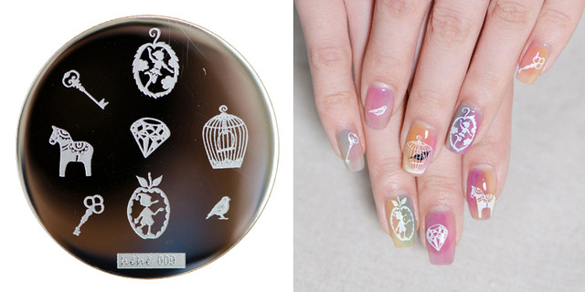 Hehe 2016 New Stamping Plate Hehe09 Fantasy Little Fairy Tale Key Nail Art Stamp Template Image