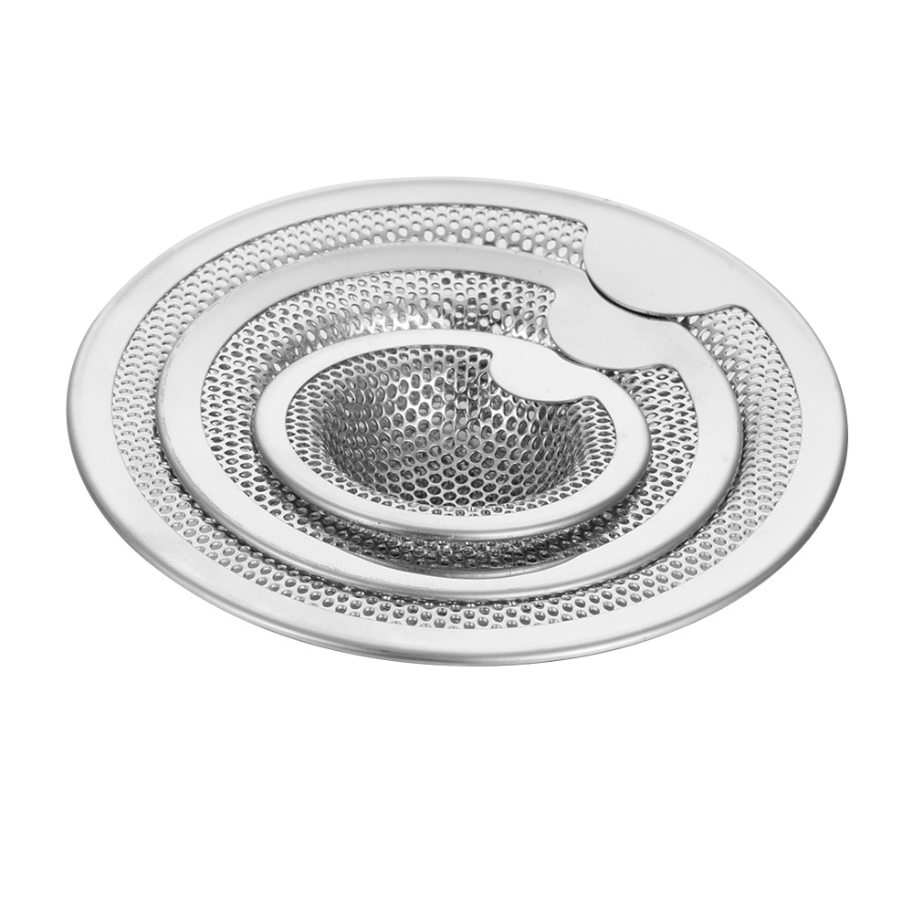 3 Size New Kitchen Stainless Steel Sink Strainer Drain Hole Filter Mesh Trap Bathtub Shower Waste Stopper Drainage For Kitchen