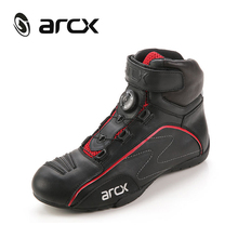 ARCX Motorcycle Boots Men Leather Shoes Cow Leather Biker Boots For Motorcycle Road Riding Boots Street Moto Motorbike Boots