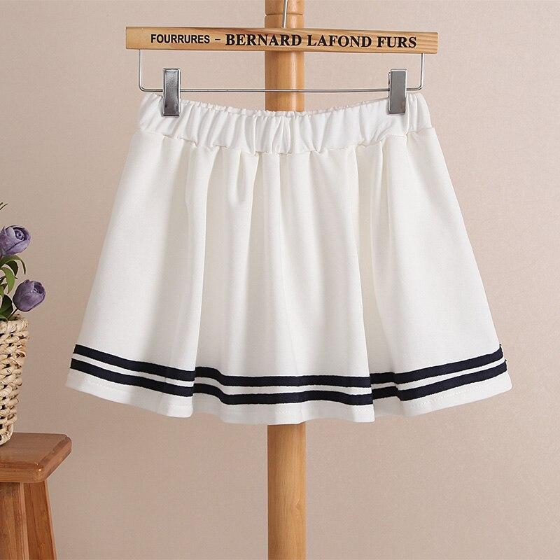 c29b36e0e74ff Summer new Juniors pants skort skirt women's preppy style short skirt  stretch elastic waist skirts navy culottes white navy blue-in Skirts from  ...
