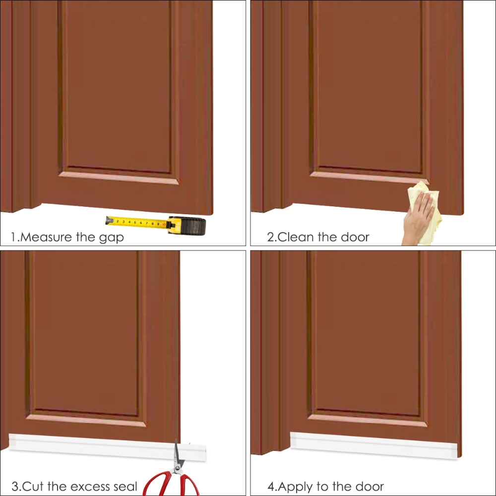 Merveilleux Aliexpress.com : Buy 1M Silicone Bottom Door Window Seal Draft Dust Blocker  Strip Under Door Guard Insect Stopper Window Stripping Band Self Adhesive  From ...