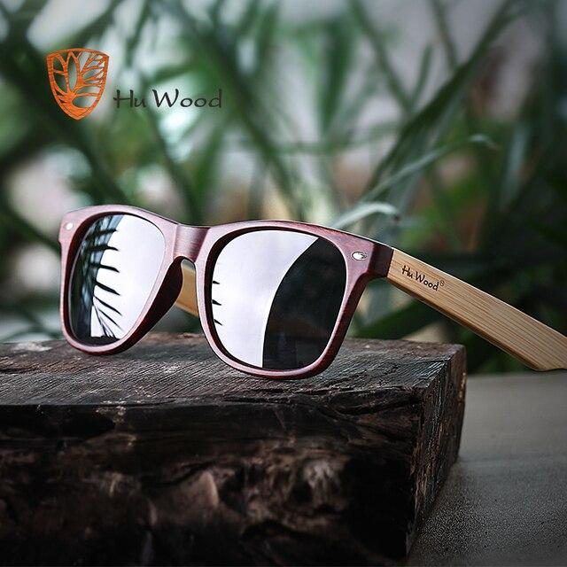 38769b9af6 HU WOOD 2018 DESIGN Men Women Classic Retro Rivet Polarized Sunglasses 100%  UV Protection