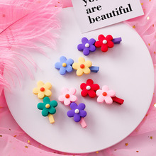 1PCS Korea Resin Candy Color Hairpins Geometric Waterdrop Hairgrip Macaron Flower Hair Clips Women Accessories