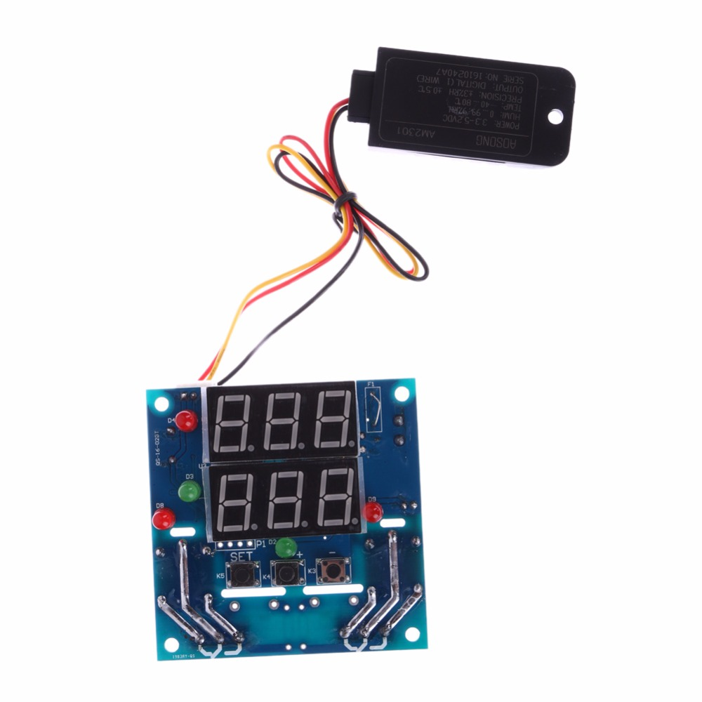 Ac Dc 12v Digital Temperature Humidity Controller Board Relay Thermostat Wiring Has No Power Capacitive Hygrometer Module In Instruments From