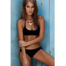 Push Up Bandeau Print Brazilian Bikini