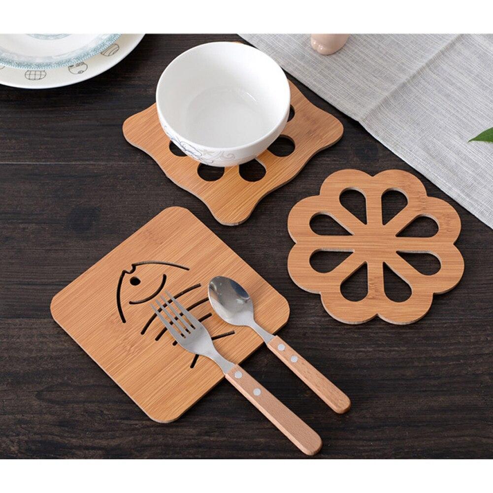 1 Stuk Houten Cartoon Dier Desktop Mat Eettafel Placemat Coaster Keuken Accessoires Mat Cup Bar Mok Drink Pads